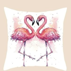 New Pink Flamingos Pillow Cover